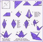 Shapely origami crane instructions