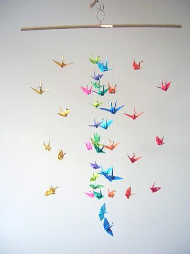 Excellent origami crane mobile