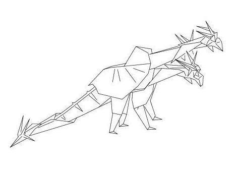 Draft origami dragons