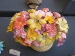 Real origami flower bouquet