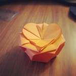 Splendid origami flower box