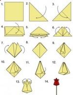 Comely origami flower instructions