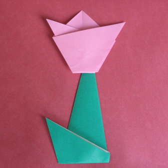 Cute origami flowers for kids