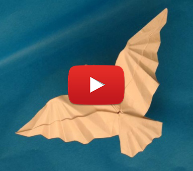 One of a kind origami flying bird