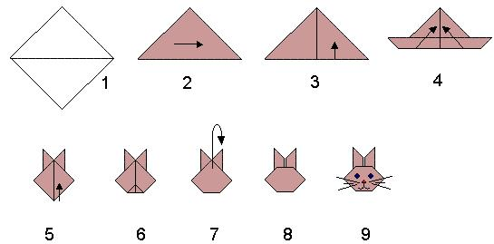 Kitty origami for kids animals