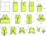 Interesting origami frog