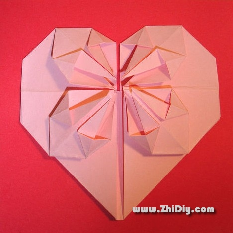Charming origami heart 3d