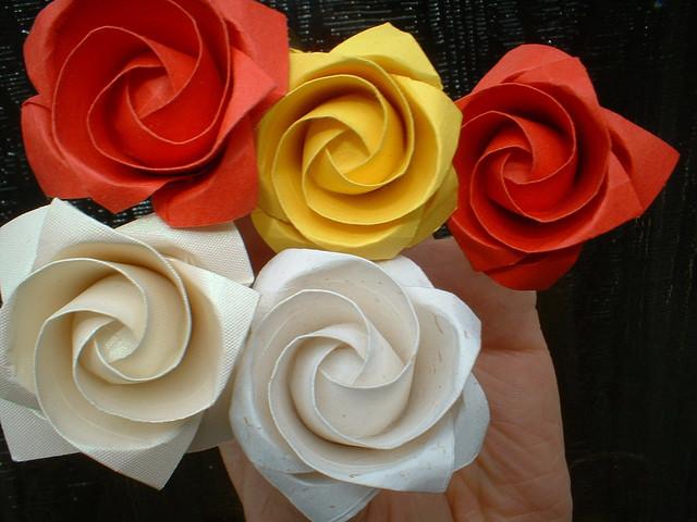 Sweet! Origami kawasaki rose