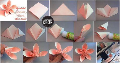 Dazzling origami kusudama flower