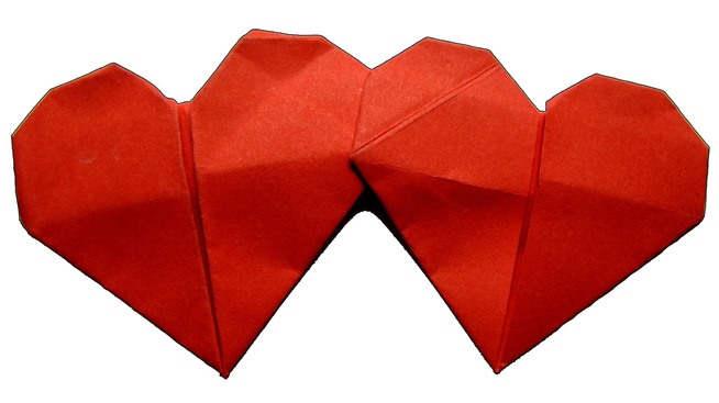 Comely origami love heart