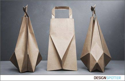 Useful origami paper bag