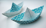 Lovely origami paper boat