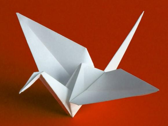 Enticing origami paper crane