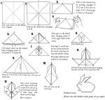Rabbit origami paper folding