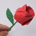 Lovely origami rose easy
