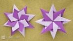 Purple origami star