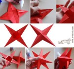 Red origami star instructions