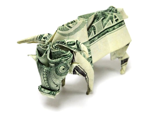 Buffalo origami with money