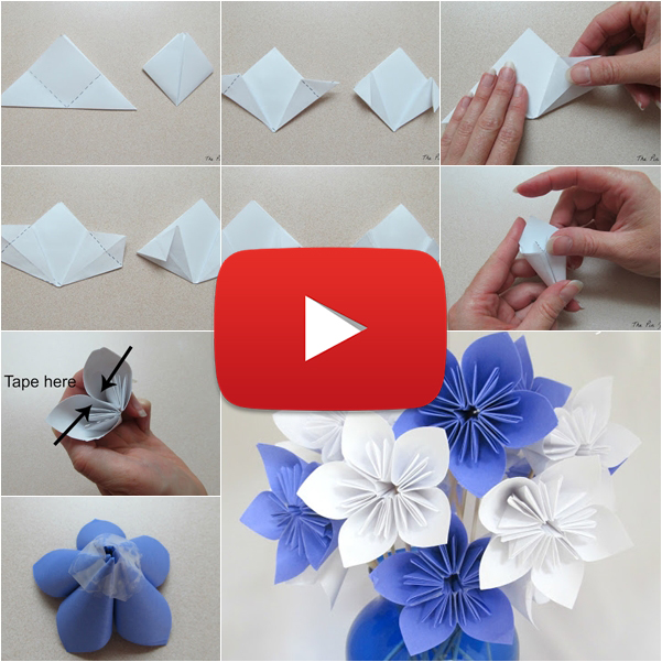 Foxy paper flower origami