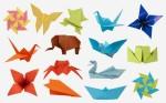 Various paper folding origami