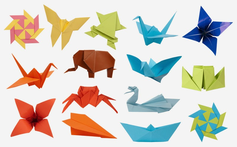 Various paper folding origami