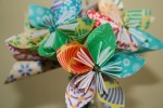 Unique paper origami flower
