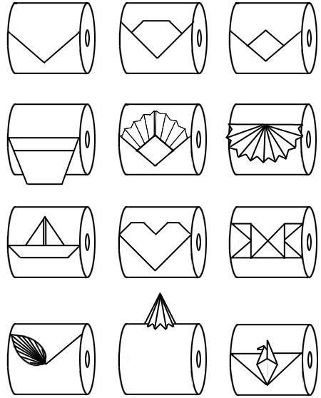 Interesting toilet paper origami