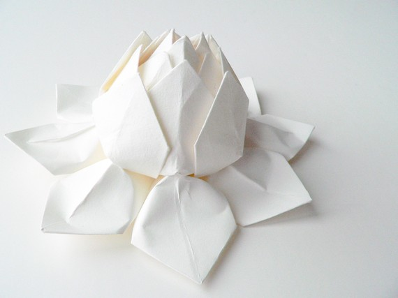 Very nice white origami paper