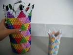 Useful 3D Origami Vase