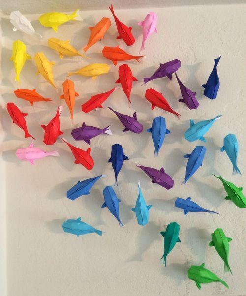 Rainbow Koi Art Origami