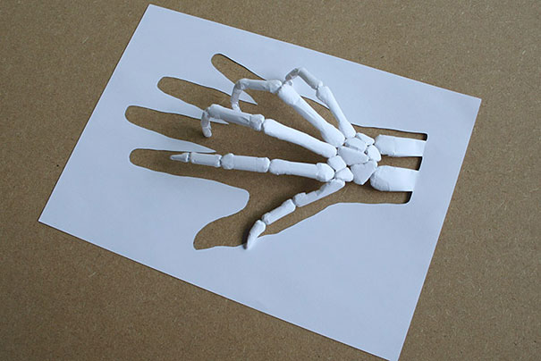 Skeleton Art Paper