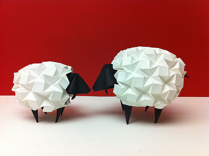 Cute Sheep Japanese Paper Art Origami