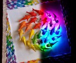 Lighted Origami Art And Craft