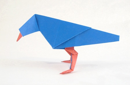 Two color Origami Bird