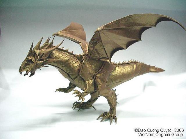 Stunning Origami Dragon