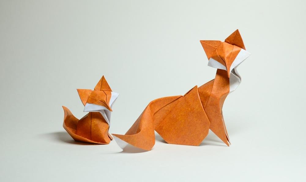 Cute Fox Origami Folding Paper