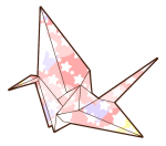 Folding Origami Paper Crane
