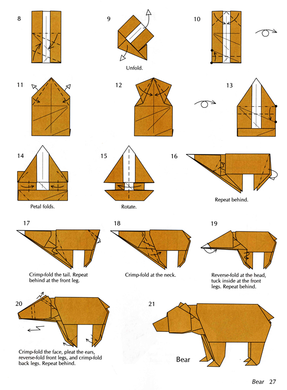Bear Origami Patterns