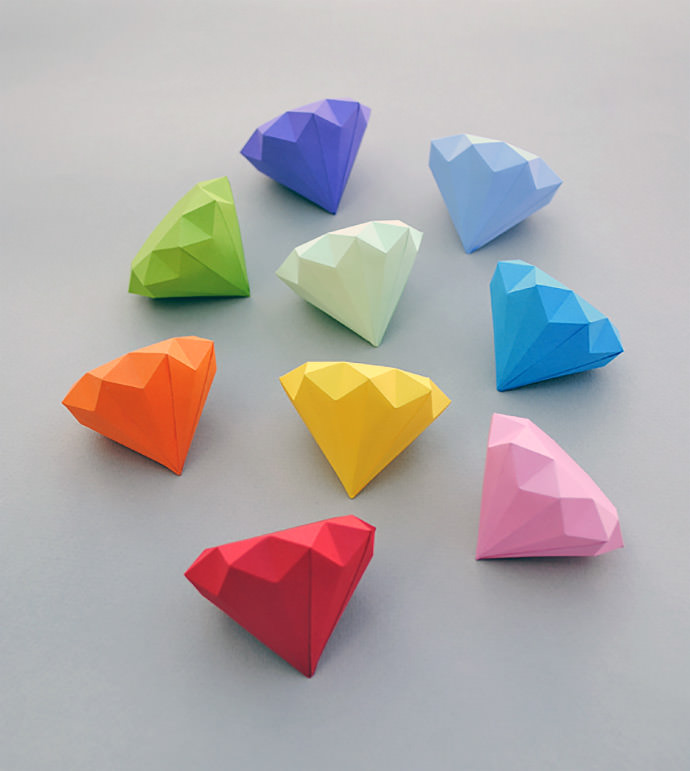Diamonds Origami Projects